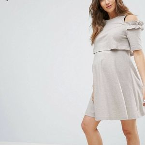 Asos cold shoulder maternity/nursing dress